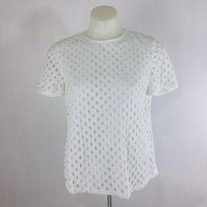 Tory Burch White Hermosa Cotton T-Shirt Orig $250